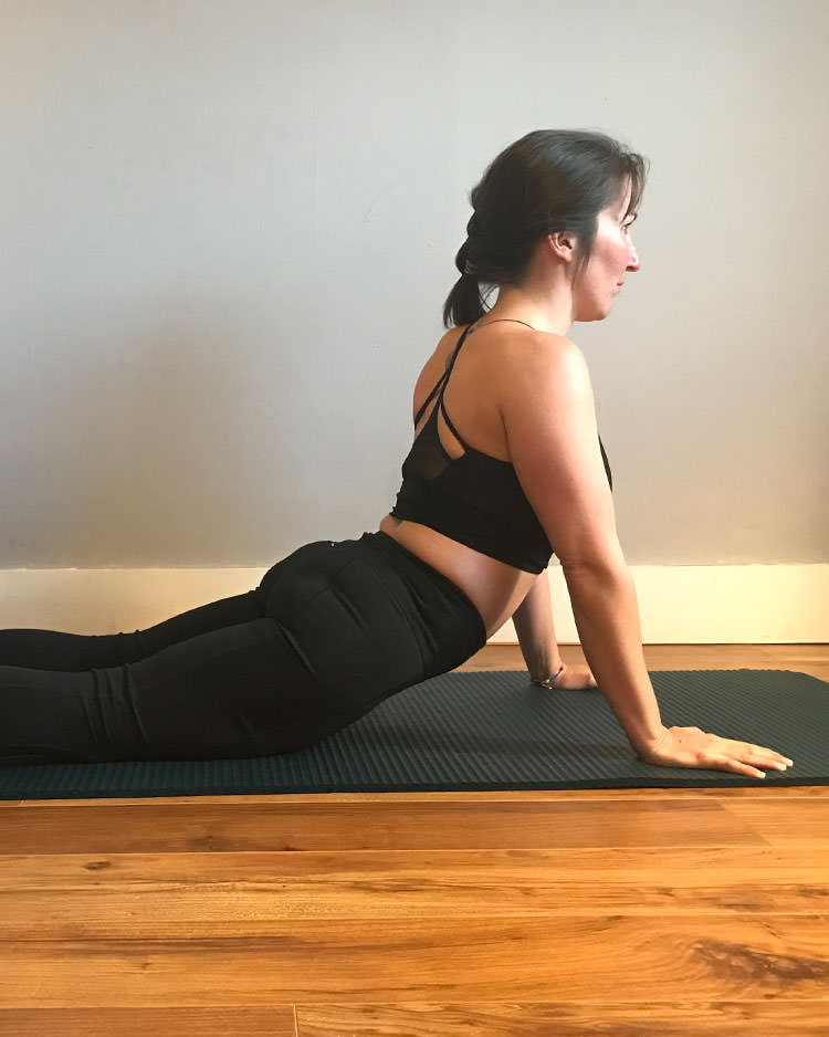 Reform Pilates Maly Polotto demonstrating favourite Pilates pose at our studio in Blackrock County Dublin